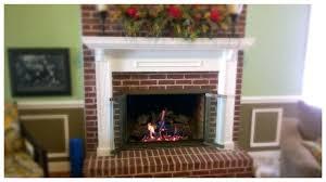 gas fireplace glass doors charred oak logs with design specialties best door cleaner