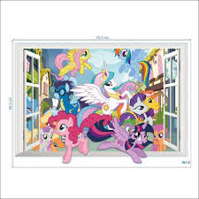 my little pony mlp wall decal wall stickers home deco party backdrop babies kids on carou