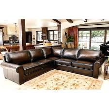 top grain leather sectional abbyson metropolitan