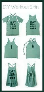 diy workout shirt jump in shirt