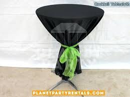 black round tablecloth with bow for cocktail table checd roll black round tablecloth