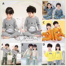 Bộ đồ ngủ dài in hình Totoro dễ thương cho bé Đồ ngủ bé trai Đồ ngủ cho bé  gái Quần áo ngủ trẻ em