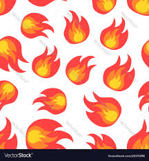 Flame Pattern Beauteous Flame Fire Seamless Pattern Background Icon Vector Image