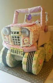 jeep diaper cake these are the best baby shower ideas