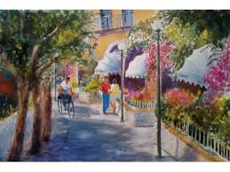 spring fever solo art exhibit by medy bozkurtian featuring 30 of her recent original watercolor