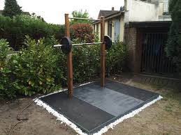 complete diy outdoor weightlifting platform