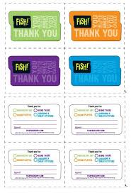 Chart House Fish Philosophy Print These Fish Thank You Cards And Let Someone Know How