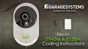 coding the merlin e945m e128m into the merlin quite drive mr650evo roller garage door opener