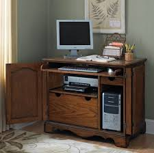 computer desk small. Furniture: Solid Teak Wood Small Computer Desk Design And Also Cool Rug - Black
