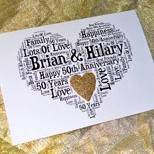 Personalised 50th Wedding Anniversary Love Sparkle Card By Sew