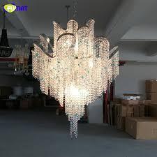 fumat italian luxury crystal chandeliers tassel lights modern nordic k9 crystal chandelier lightings home decor living room lamp outdoor pendant lights