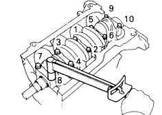 What are the torque spec for the main bearing caps on a 1996 toyota ...