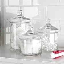 bathroom canister set. gl canister 4 charming decoration bathroom set e