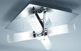 ribbed shade bathroom ceiling light franklite lighting