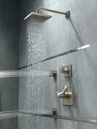 delta shower systems brilliance 8 wide rain head with arm and system reviews arin thermostatic shower system reviews