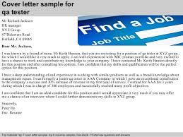 cover letter sample for qa tester qa tester cover letter