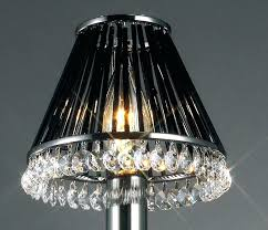 crystal table lamp shade lamp shade with crystals black chrome and crystal glass 2 crystal beaded