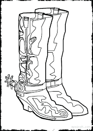 Boot Coloring Page Boot Coloring Page Cowgirl Boots Pages Cowboy