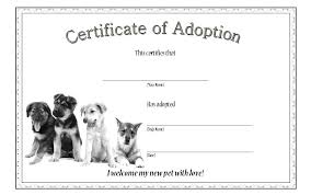 Pet Adoption Certificate Template Dog Adoption Certificate Template 1 Paddle At The Point