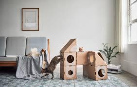 design studio a cat thing have created a fun cardboard cat furniture that has a cariety
