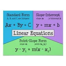 beautiful math linear equations all