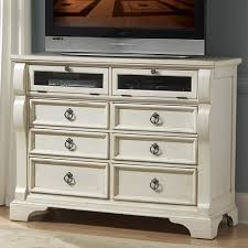 Heirloom Wood Media Dresser / TV Stand In Antique White