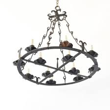 large forged spanish chandelier iron chandelier from spain with lights situated on concentric circles