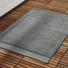 gallery of loop light grey bath rug reviews crate and barrel interesting mat qualified 2