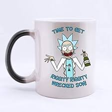 office cups. Funny Rick And Morty Customize Personalized Coffee Mug Novel Gift Mugs Color Change Ceramic Cup Water Office Cups L