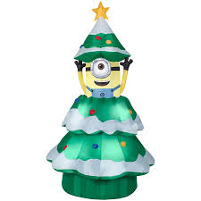 Shop Gemmy 6.98-ft x 3.77-ft Animatronic Lighted Minion Christmas ...