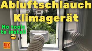 Klimaanlage Abluftschlauch Klimagerät Fensterdurchführung Diy