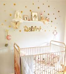 nursery with removable gold wall decals multi sized stars