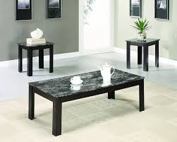Marble Top Kitchen Work Table Amazoncom Coaster Fine Furniture 700395 3 Piece Coffee Table And