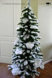 DIY Flocked Christmas Tree | Artificial tree, Flocked christmas trees and Christmas  tree