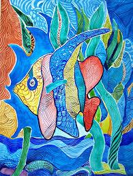 ocean painting under the sea by sandra lira