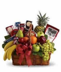 large fruit and gourmet gift basket delivered in the us