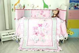 elegant crib bedding sets new embroidered d pink erfly lace baby crib cot bedding set quilt per fitted sheet with elegant baby crib bedding elegant