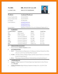 9 Biodata Sample For Job Assembly Resume