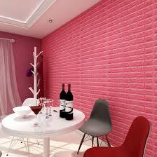 china white brick pe foam wallpaper