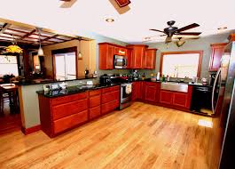Kitchen With Hardwood Floors Character Grade White Oak Kitchen Remodel In Traverse City
