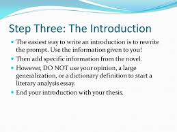 your step by step guide step one the prompt your essay should  5 step