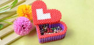 3d perler bead pattern how to make a perler bead red heart box 3d perler bead pattern how to make a perler bead red heart box