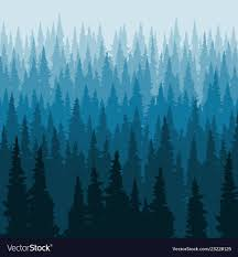 Forest Background Pine Trees Silhouette Template