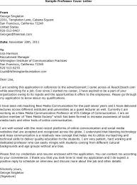 Cover Letters For Adjunct Faculty Positions Gallery One Sample Cover