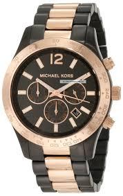 12 days of x mas 5 gold watches urbasm michael kors chronograph gunmetal watch mk8208
