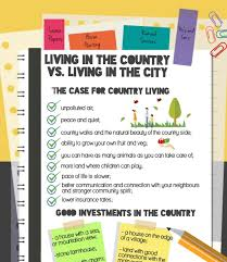 city vs country city life vs country life local seo challenges living in the country vs living in the city infographic