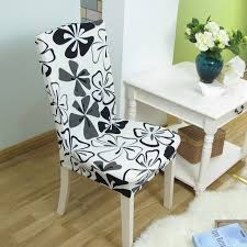 spandex elastic geometric plant flower flag pattern chair covers stretch dustproof kitchen hotel modern dining seat