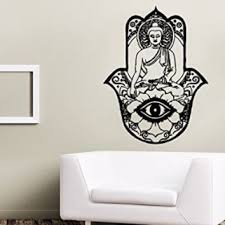 wall decals yoga lotus indian buddha decal vinyl sticker home decor bedroom interior design art mural