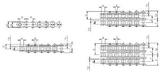 Drive Chain Size Chart 28b Roller Chain Dimensions Iso R606 Fbkc