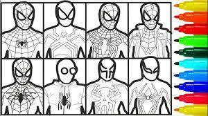 Spiderman Faces of Heroes Coloring Pages | tranh tô màu siêu nhân | Hướng  dẫn vẽ tranh đẹp nhất - Việt Nam Brand